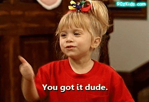 A collection of Full House GIFS for every occasion... #gifs #fullhouse #reactiongifs