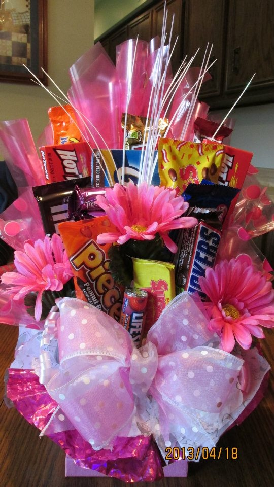 Candy Bar bouquet made by Denise Terry for bridal shower. Poem that goes with bouquet to follow