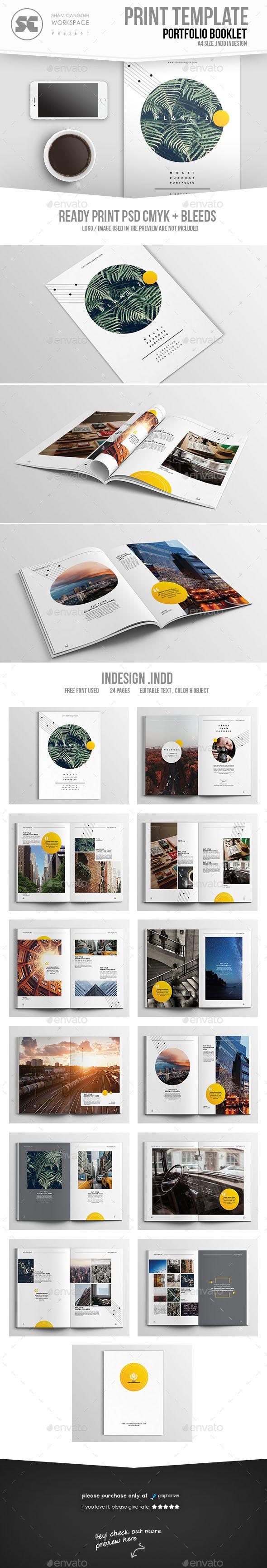 Multipurpose Creative Portfolio Brochure Template InDesign INDD. Download here: https://graphicriver.net/item/multipurpose-creative-portfolio/17210058?ref=ksioks
