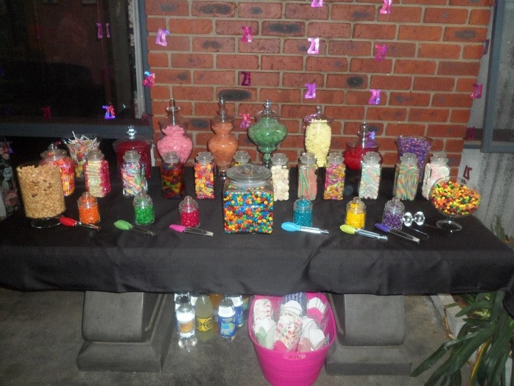 Lolly buffet for Melanie's 21st
