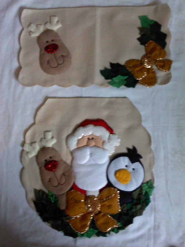 Juegos de ba o navide os super originales hechos a mano - Figuras fieltro navidad ...