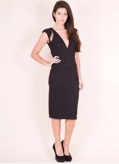 Sheath/Column V-neck Tea-Length Chiffon Cocktail Dress