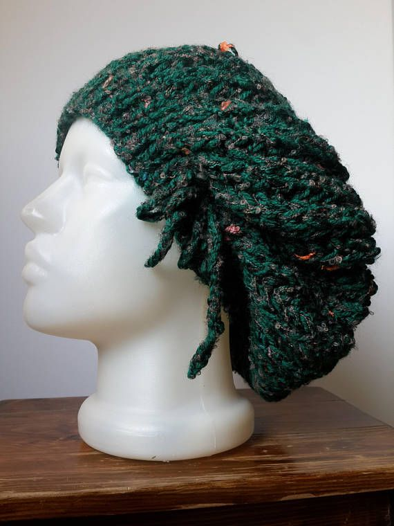 Slouchy Hat Dark Green Slouchy Hat Green Knit hat Dark