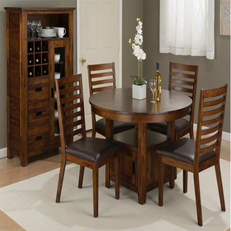 Coolidge Corner 5pc Round Dining Room Set | Dining Sets | Discount Direct  Furniture And Mattress