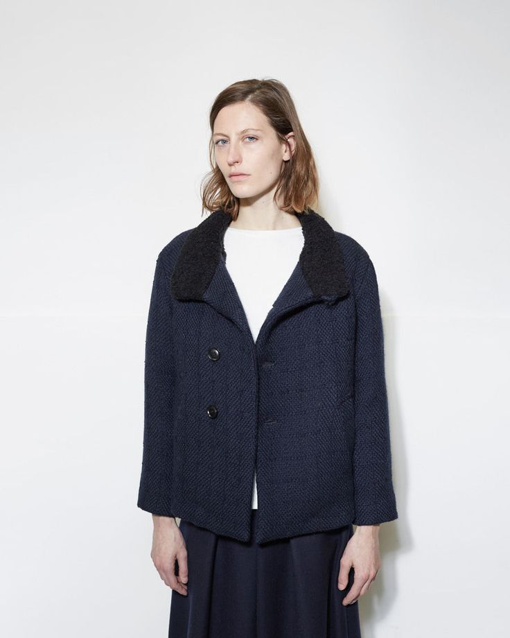 BLUE BLUE JAPAN | Wool Short Coat | La Garçonne