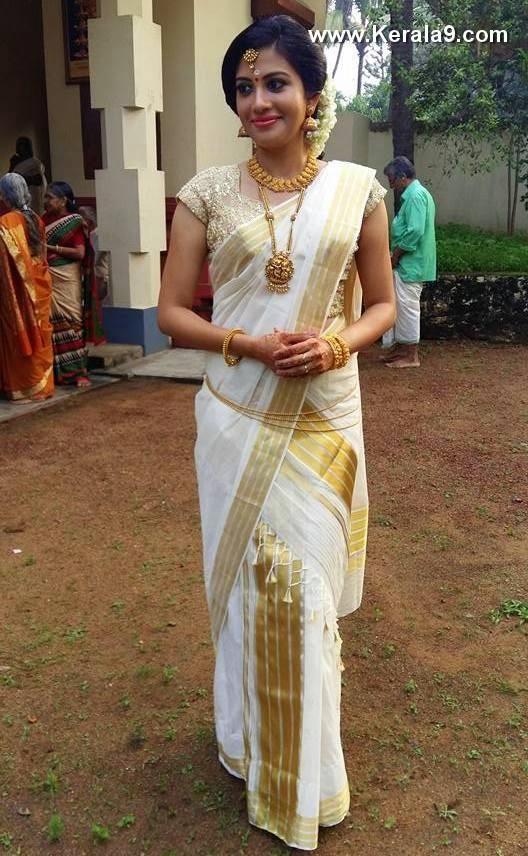 Actress Shivada Nair in Malayali Saree