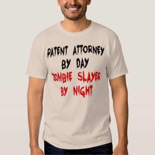 (Patent Attorney Zombie Slayer T-Shirt) #Attorney #Attorneys #Funny #Humor #Joke #Occupation #Patent #Quote #Zombie is available on Funny T-shirts Clothing Store   http://ift.tt/2fMpeyj