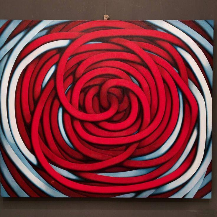 Time gate  #fluidofiume #carlopetrini #collection #gallery #artstudio #artgallery #italiangallery #italianartist #oiloncanvas #fineartgallery #fineart #triestesocial #trieste #художники #artecontemporanea #contemporaryart #time#gate #red#colors