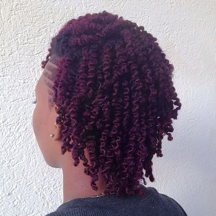 Natural Hair Purple Hair Purple Dark Roots Twistout