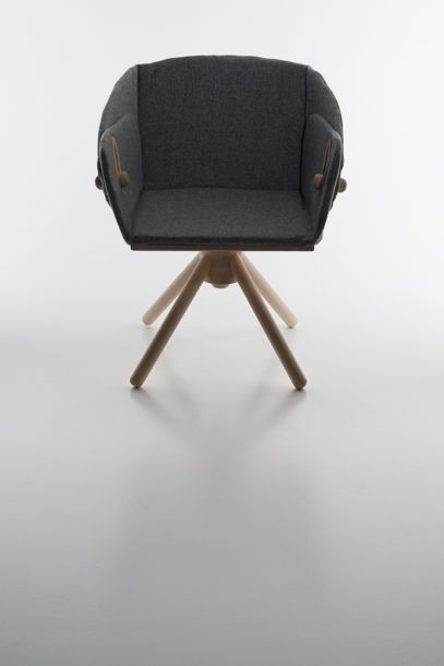"""""""STOCKHOLM"""" BY KAREN NAALSUND A dining and lounge chair in one! With simple grips you can move both chair hight and back angle."""