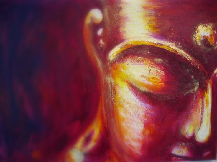 Digitaldruck - Buddha - Rot/Gelb (60x80cm) - 021013-1-TL - ein Designerstück von StaXArt bei DaWanda