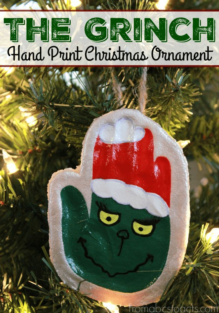 The Grinch Hand Print Keepsake Ornament