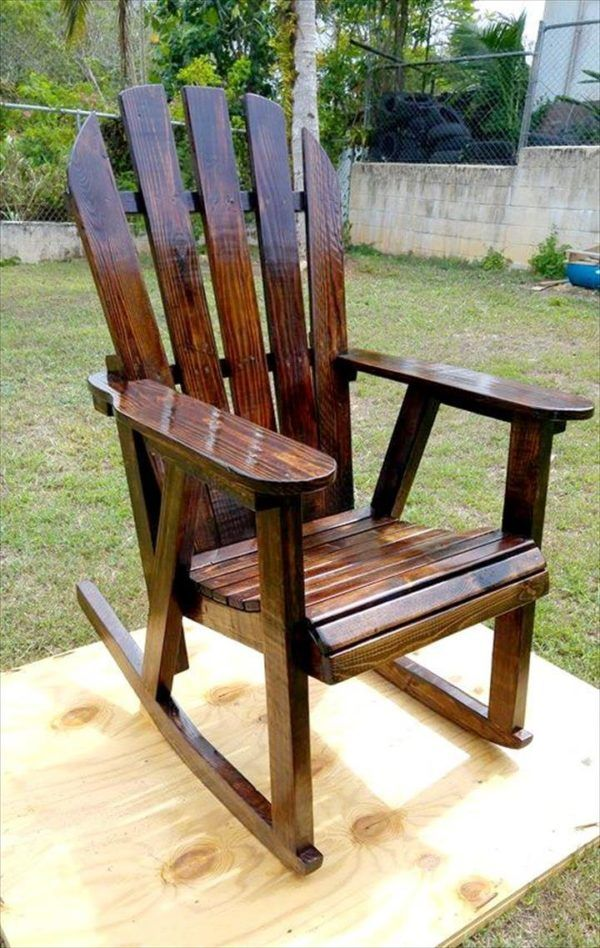Pallet Rocking Chair Rocking chairs, Pallets and Pallet