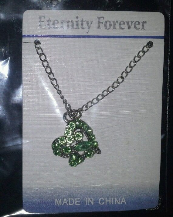 Abstract Green Heart Pendant Necklace in Jewelry & Watches   eBay