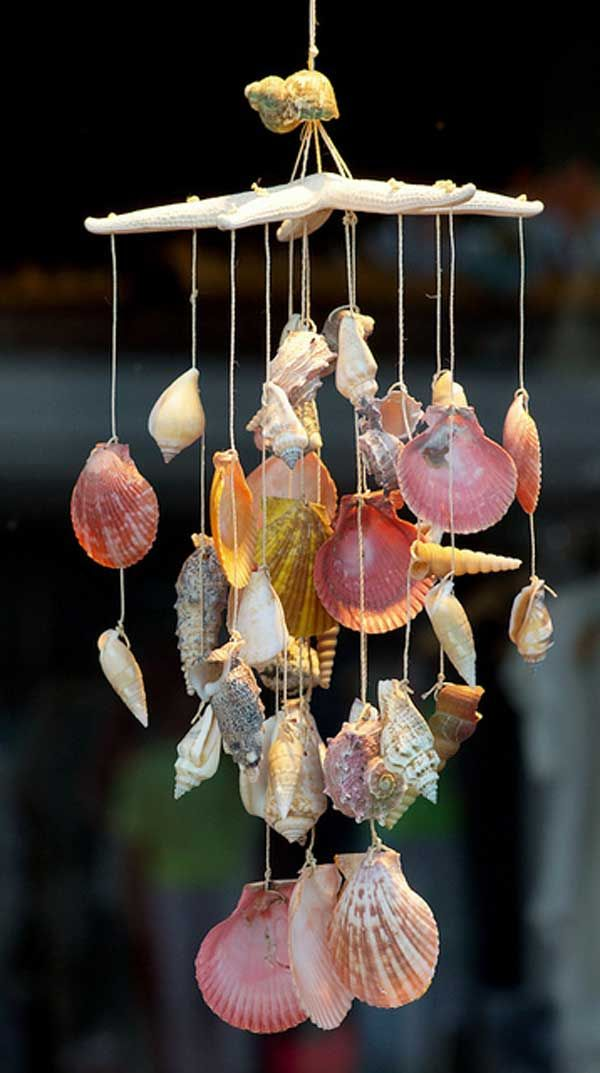 shell windchime | flower pot wind chime tutorial source 19 diy shell windchime