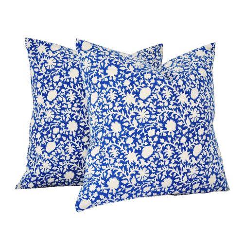 Kalamkari Blue Pillow Cover