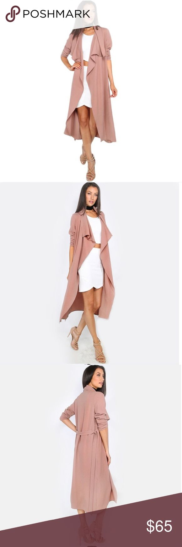 Nude Pink Duster  Brand new duster! It is mostly nude with a hint of pink to it. Comes with a tie for the back, no pocket as its mostly open front. It's so simple and will add such a beautiful touch to each outfit! Material is polyester. Please use the size chart for length and bust measurements!   No brand. NOT Missguided, tagged for brand exposure.    Bundle for discounts!   No off app transaction or trades!   Scroll below to find lower priced items to help you bundle! Missguided Jackets…
