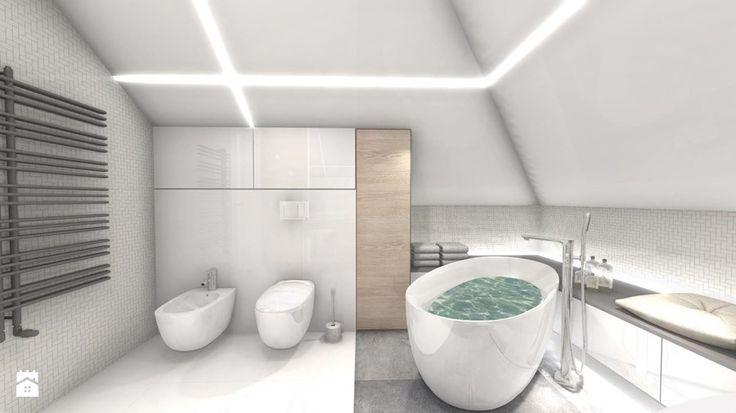 DOM Z WIDOKIEM NA WISŁĘ - Łazienka, styl nowoczesny - zdjęcie od DALMIKO DESIGN Pracownia Projektowa