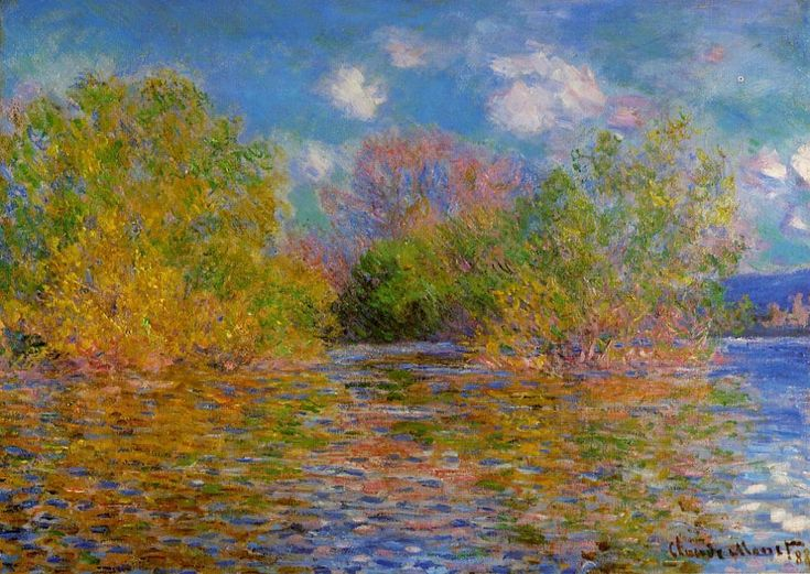 claude monet images   The Seine near Giverny