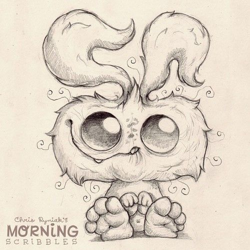 This one is dedicated to Chris Ryniak's daughter, who wakes up with tangled hair, but is always happy to see a new day. #morningscribbles