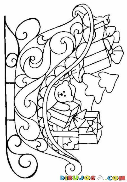 Trineo De Santaclaus Para Colorear | COLOREAR DIBUJOS DE NAVIDAD | Trineo De Santaclaus Para Colorear | dibujosa.com