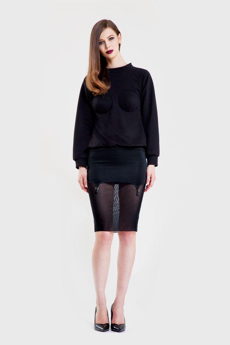 Bullet sweatshirt/ Profane skirt  www.murmurstore.com