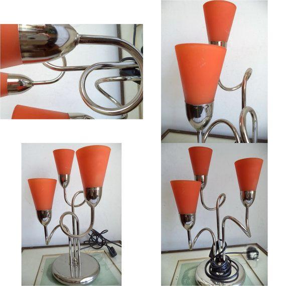 Chrome Mobile Atomic Lamp 80s Vintage Lamp by MushkaVintage3