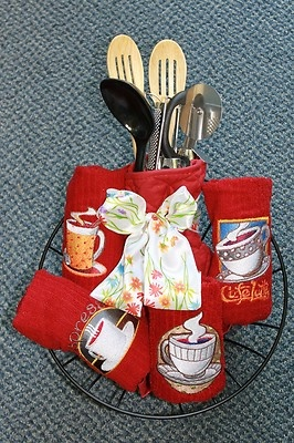 kitchen gift basket house warming holiday any occasion machine embroidery towels 2999 - Kitchen Gift Basket Ideas