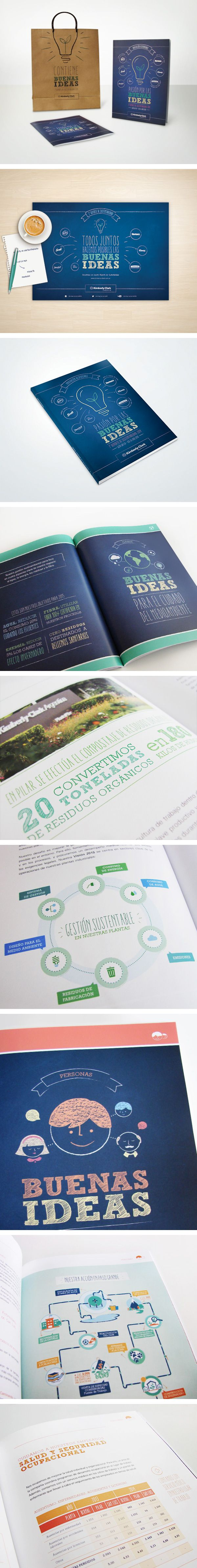 Editorial Design / Campaign Kimberly Clark: CSR Report 2014