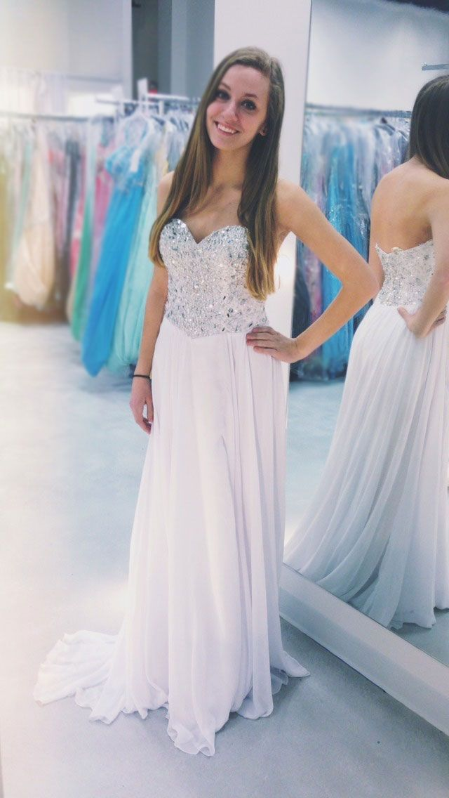 Sweetheart Pretty Prom Dresses,Strapless Prom Dresses,Sequined Prom Dresses,Chiffon Prom Dresses,A-Line Prom Dresses