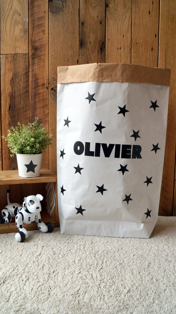 Check out this item in my Etsy shop https://www.etsy.com/uk/listing/280303880/name-plus-stars-paper-storage-bag-paper