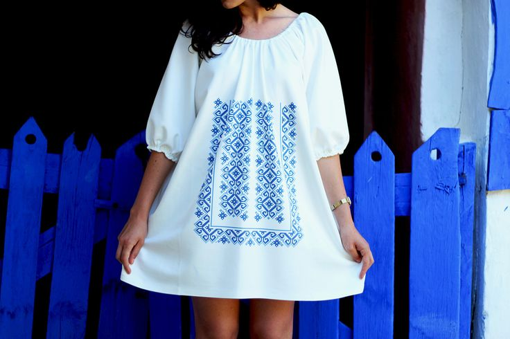 #romanian #traditional #motif #jurilovca #dobrogea #dress #printeddress #digital #ia #motivepopulare   shop dress http://theitem.co/product/digital-ia