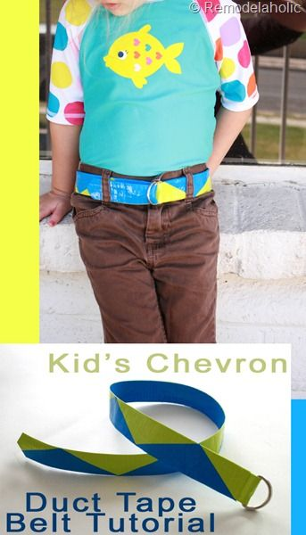 Kids Chevron Duct Tape Belt Tutorial #kids #duct_tape