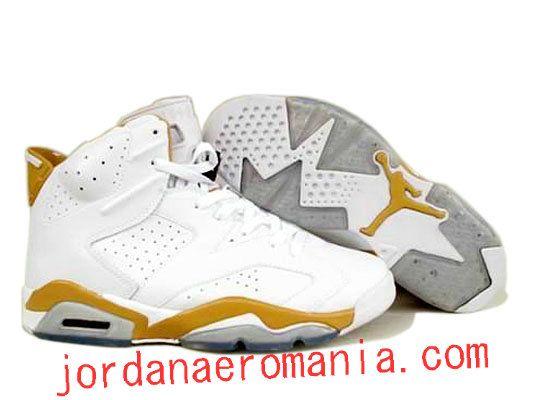 Nike Air Jordans 6 Retro Blanc Yellow