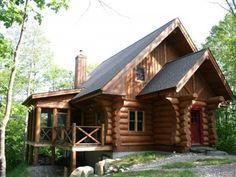 Maison en Bois Rond à Lac-Supérieur, Laurentides - Tremblant #chalet #laurentides #tremblant
