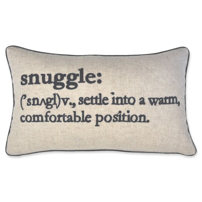 Snuggle Definition Oblong Throw Pillow In Navy Bed Bath Beyond