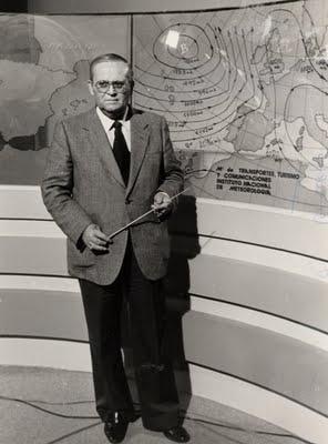 Mariano Medina (el hombre del tiempo) Quan la tele era en blanc i negre