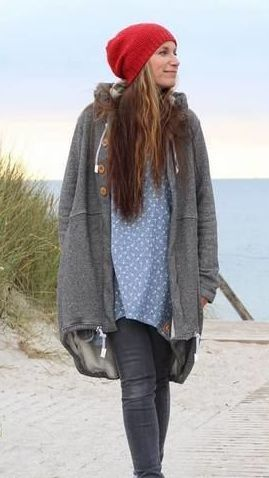 Cardigan, Hood with larger hood for women …