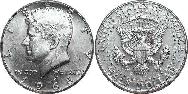 1966 Kennedy Half Dollar Value Kennedy Half Dollar Half Dollar Coins