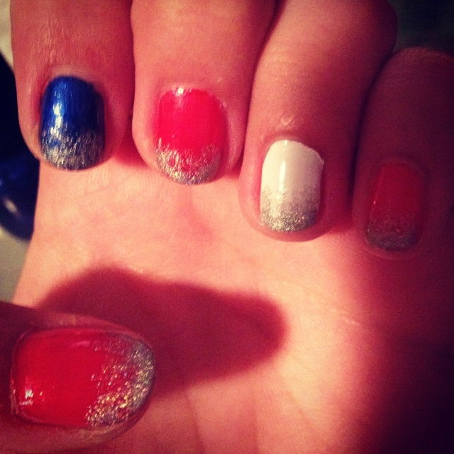 fourth of july nails easy