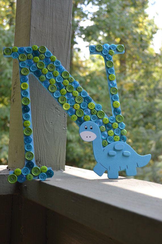 Dinosaur Nursery Decor Baby Shower by ArtCreationsByJess on Etsy