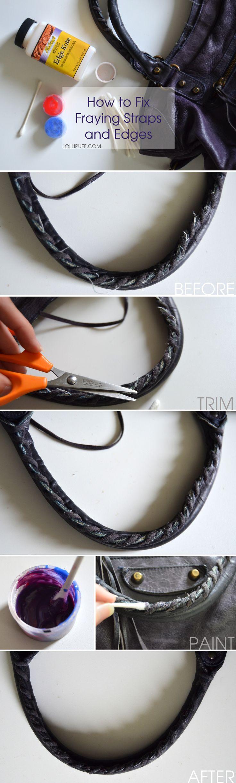 how to fix well worn handbag purse handles straps