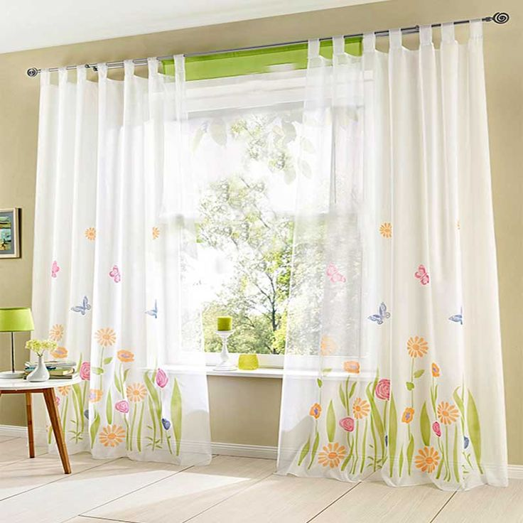 Cheap (1 pz) qualità del fiore di farfalla tende trasparenti per soggiorno cortinas tenda pura cortina di tulle moderno per camera da letto cortina, Compro Qualità Tende direttamente da fornitori della Cina: Home Textile Window Treatment Curtains for Living Room Tulle Blinds Ikea Sheer Curtain Kitchen Curtains Tulle (1 piece o