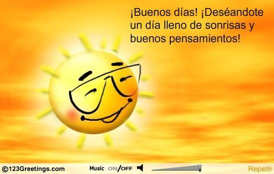 A Spanish Good Morning Card!