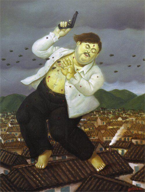 Fernando Botero Death of Pablo Escobar
