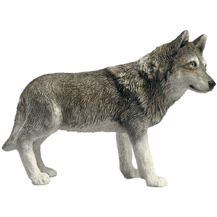 Mid size sculptures sandicast wolf figurine products