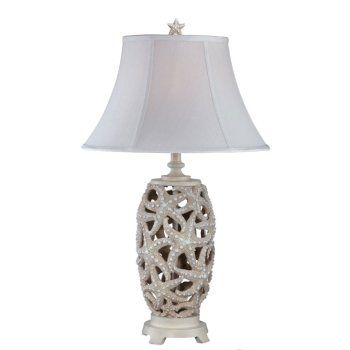 """The seaside inspired<span style=""""font-weight: bold;""""> Classic Starfish</span>Table Lamp is 31 inches tall. It features a starfish around the lamp's base.<br /><br /> Lamp Shade Size: 10x18x11.5 inches"""