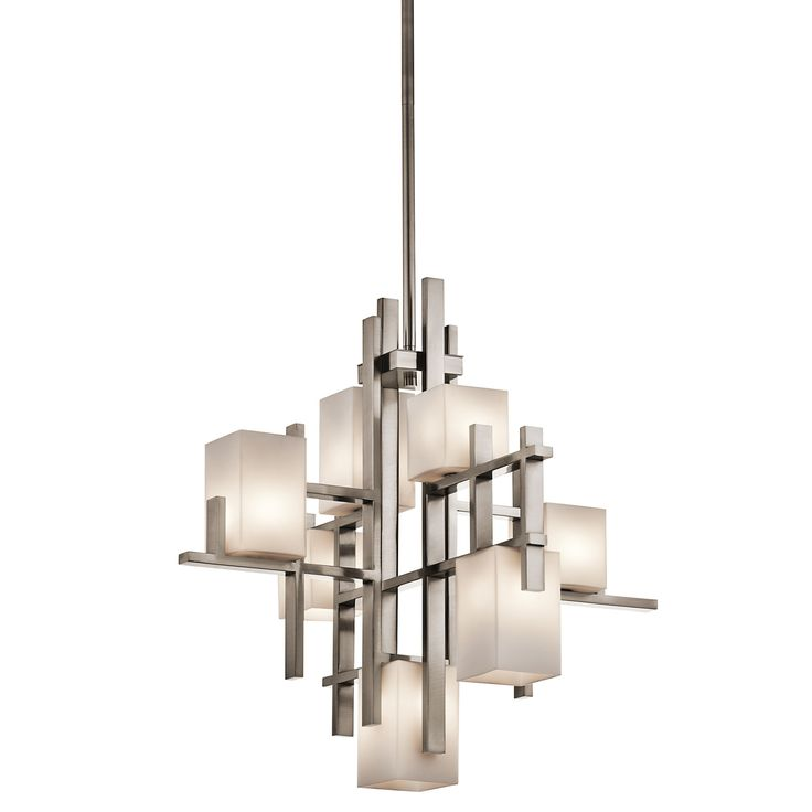 Kichler lighting city lights collection 7 lights chandelier in classic pewter