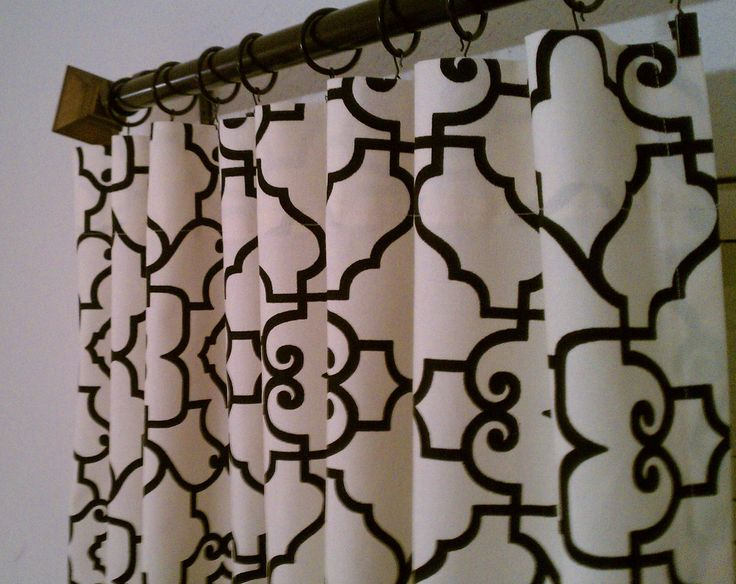 Attractive 2 Curtain Panels Wide Lattice Covington Windsor Trellis Ebony Ivory Black  Cream Curtains Drapery Choose Your Length 120