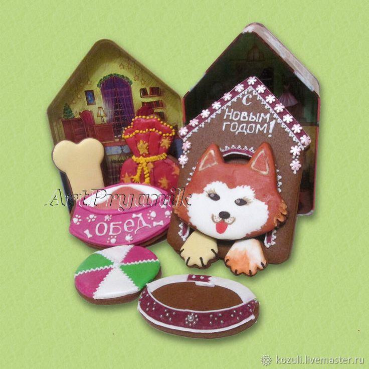 Купить Набор новогоднего имбирного печенья Сладкая собачья жизнь, Год Собаки в интернет магазине на Ярмарке Мастеров